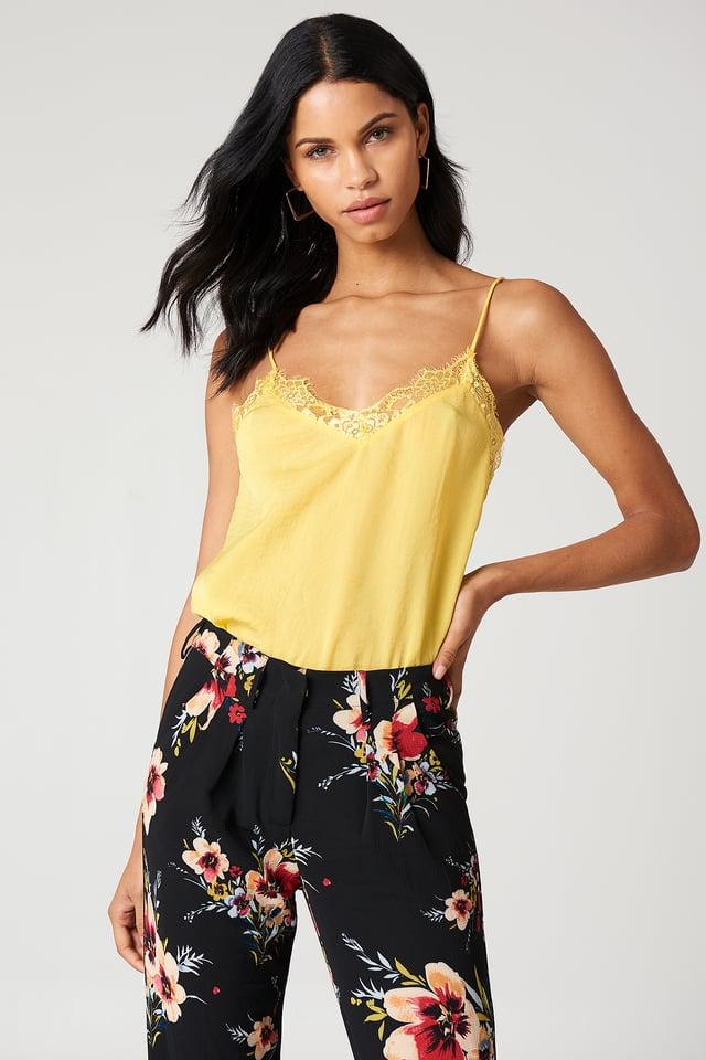 Stine Lace Singlet Yellow