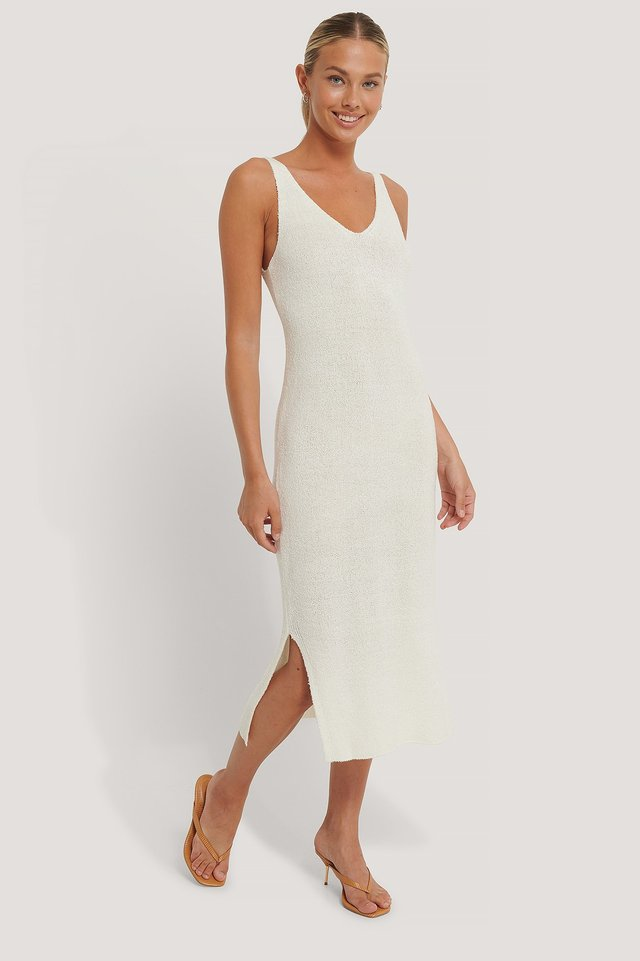 Alma Knitted Dress Offwhite