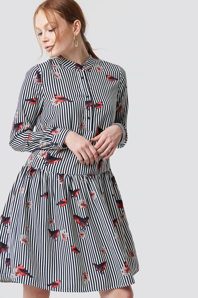 Flower Stripe Dress Stripe