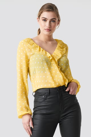 Butter Frill Wrap Blouse