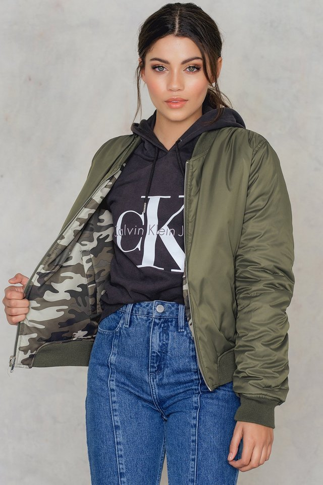 Kate reversible bomber Camo