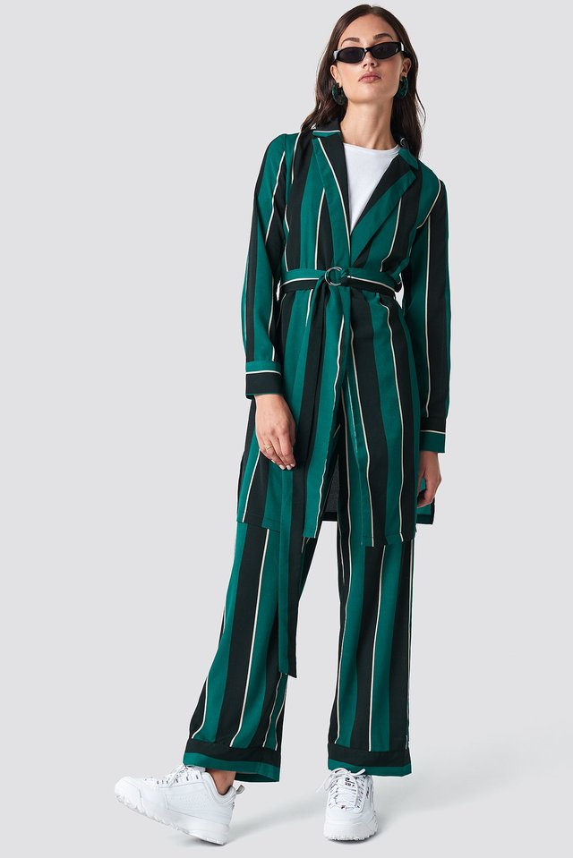 Striped Dress Jacket Green Stripe