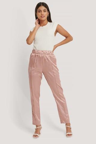 Dusty Pink Spodnie