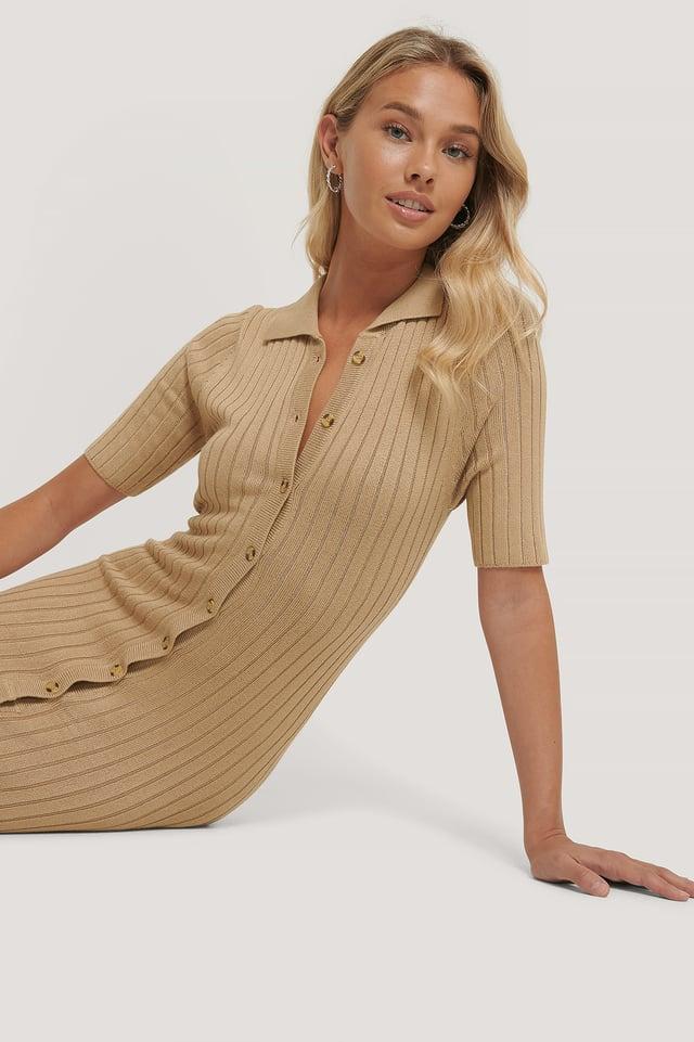 Zandra Dress Beige