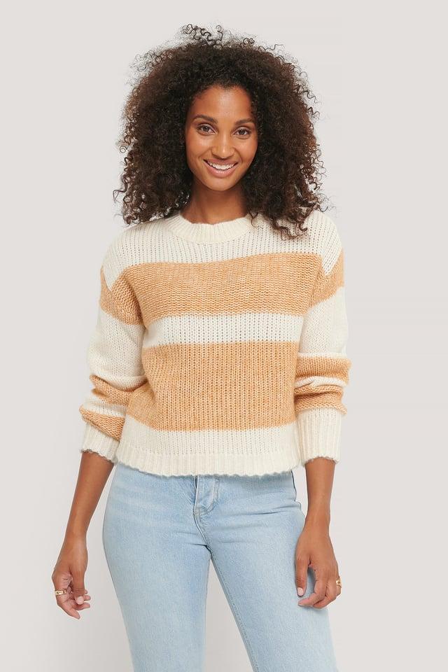 Nora Striped Knit Beige