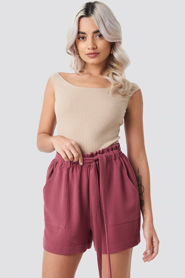 Ofelia Shorts Old Rose