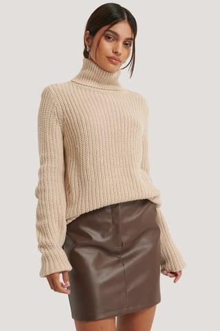 Beige Knitwear
