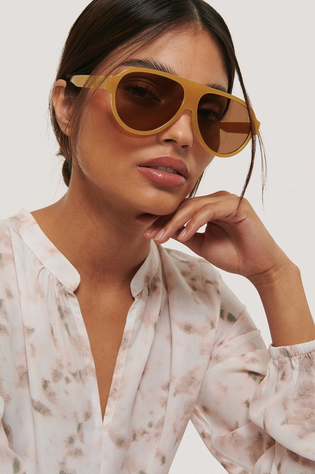 Light Beige Sara Sunglasses