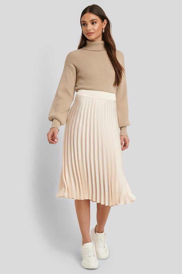 Bianca Pleated Skirt Light Beige