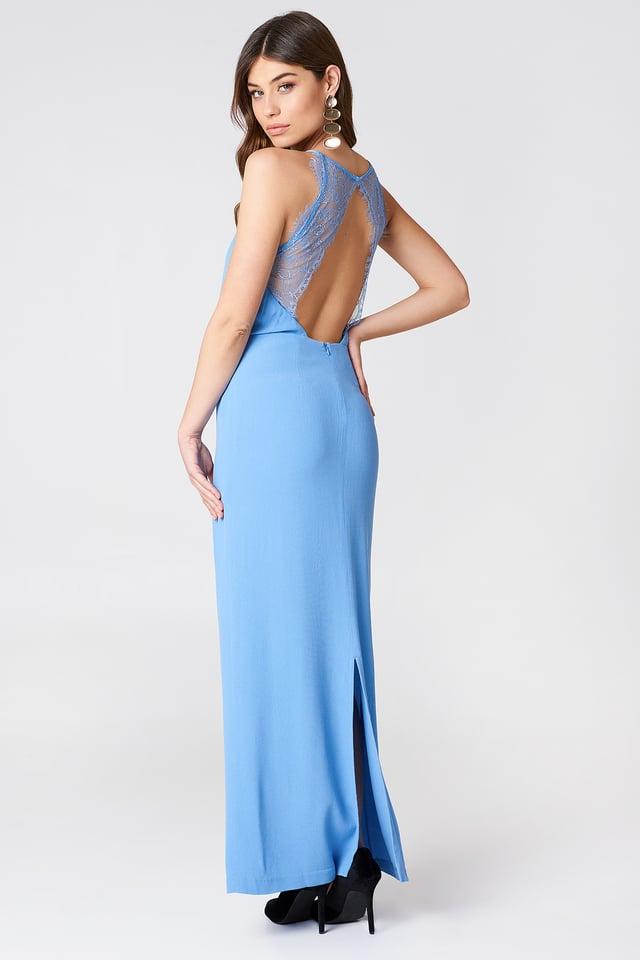 Długa sukienka Willow Silver Lake Blue