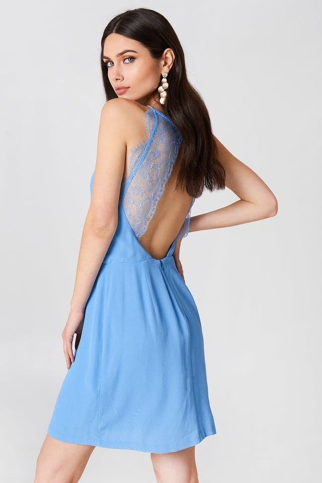Willow Short Dress Silver Lake Blue