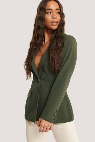 Dark Green Istuva Bleiseri