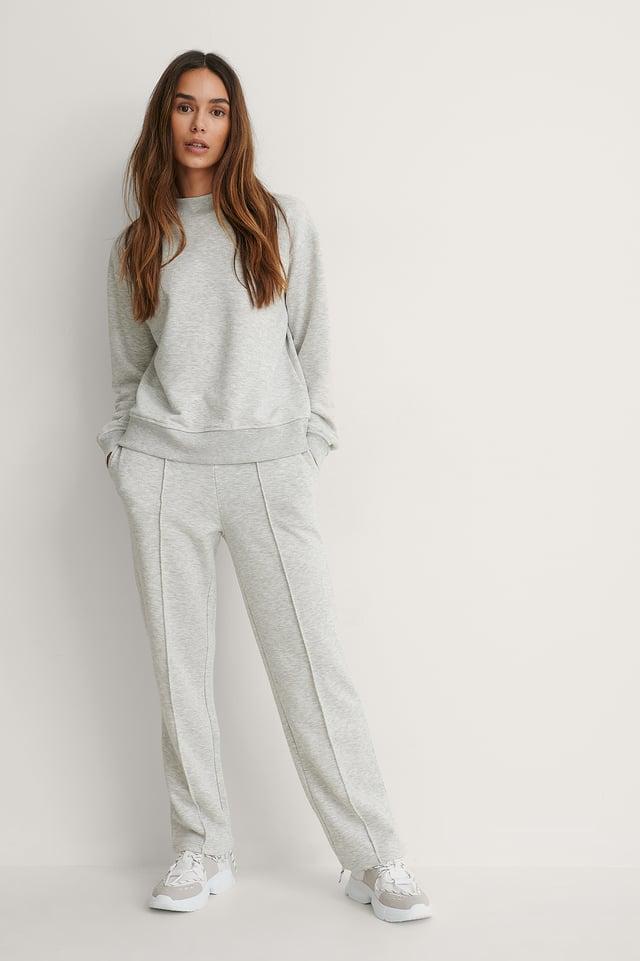 Grey Melange Ekologiczne Spodnie Dresowe