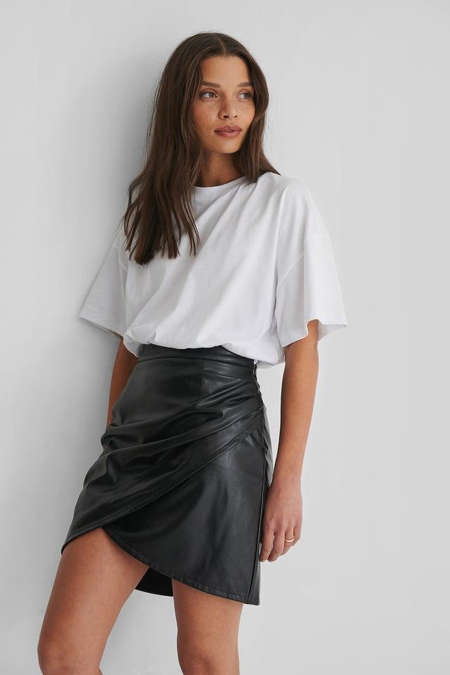 White Oversized T-Skjorte