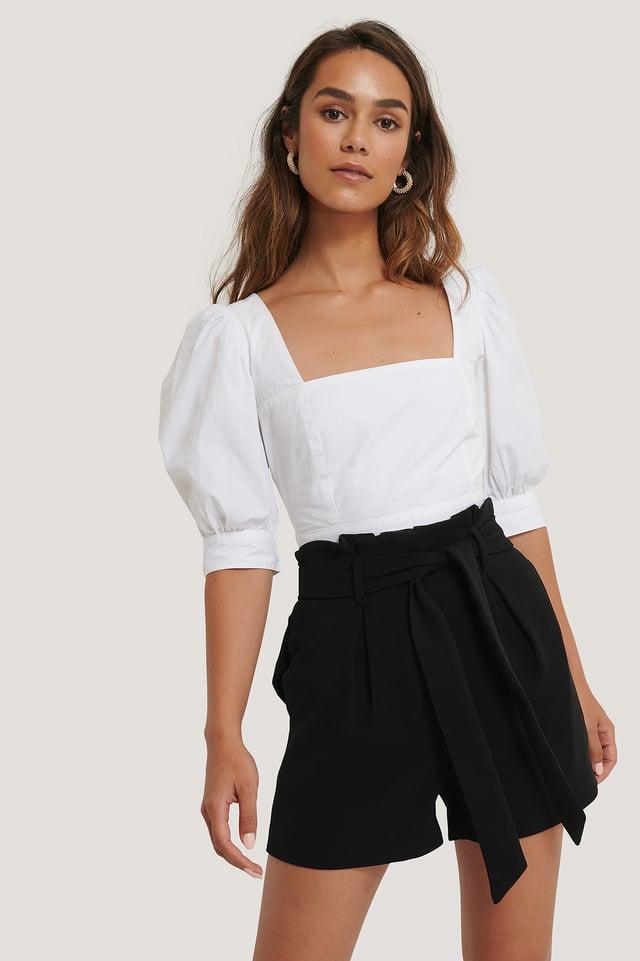 Black Shorts Med Belte
