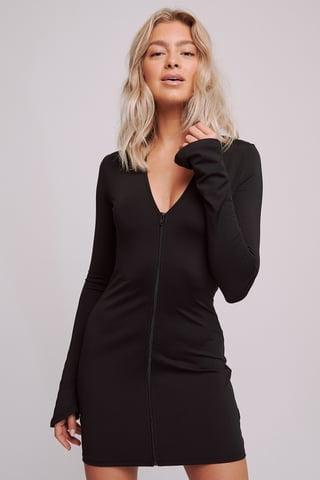Black Dżersejowa Sukienka