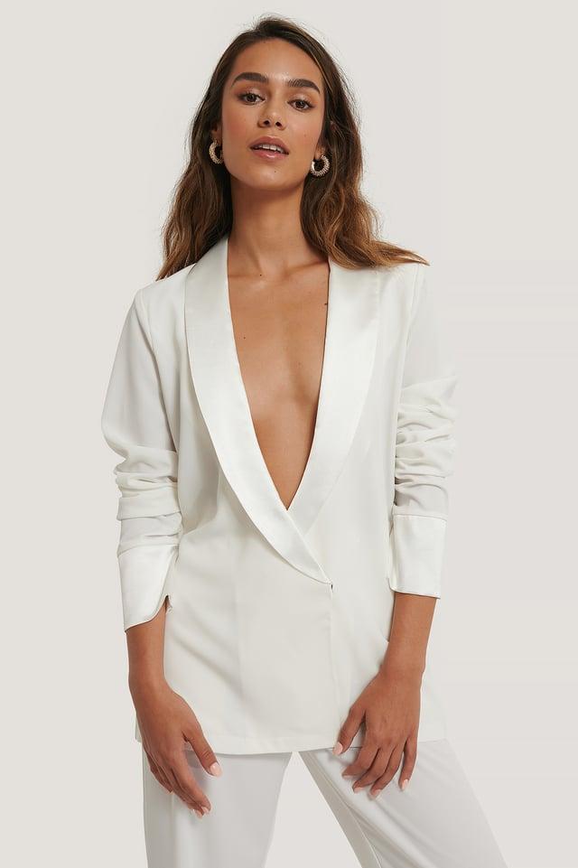 Übergroßes Hemd White