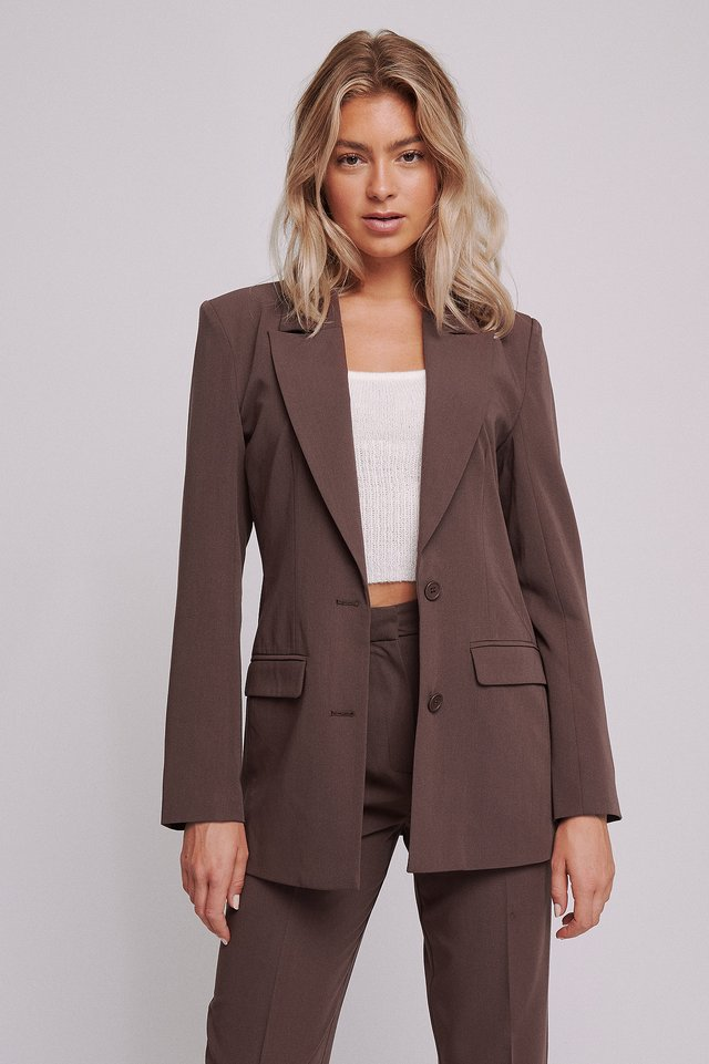 Brown Oversize Blazer