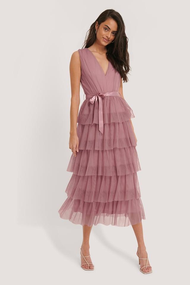 Mehrschichtiges Kleid Rouge