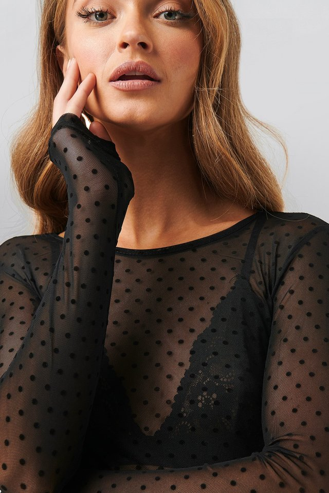 Vinni-O Blouse Black Dot