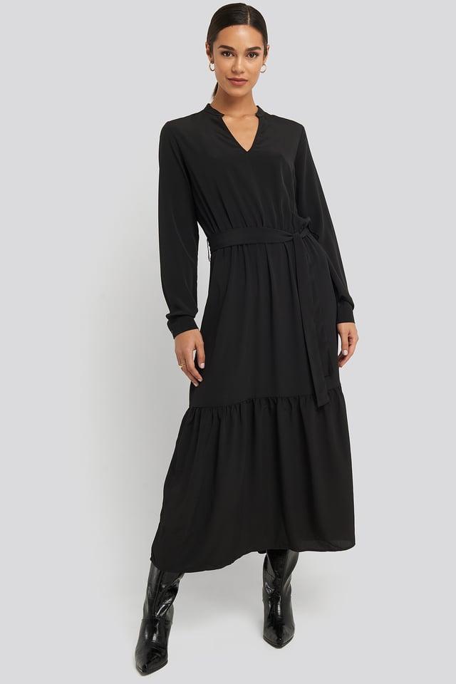 Black Egum Maxi Dress