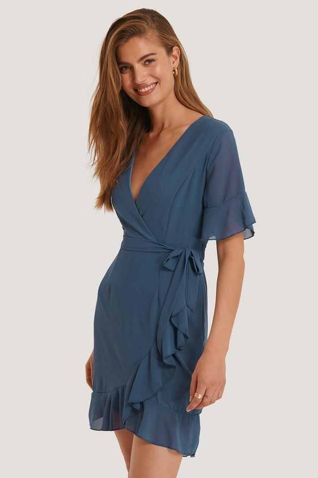 Greto Dress Dusty Blue