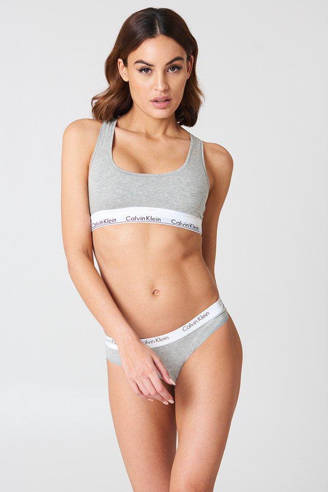 Grey Heather Bralette Modern Cotton