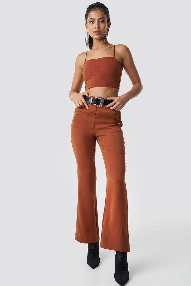 Orange Cropped Singlet.
