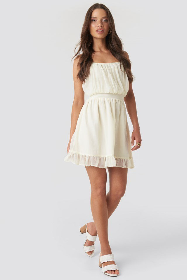 Elio Mini Dress White Outfit