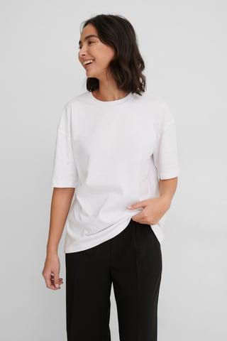 Offwhite Økologisk Oversize T-shirt