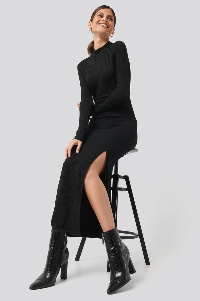 Caitlin Long Dress Black