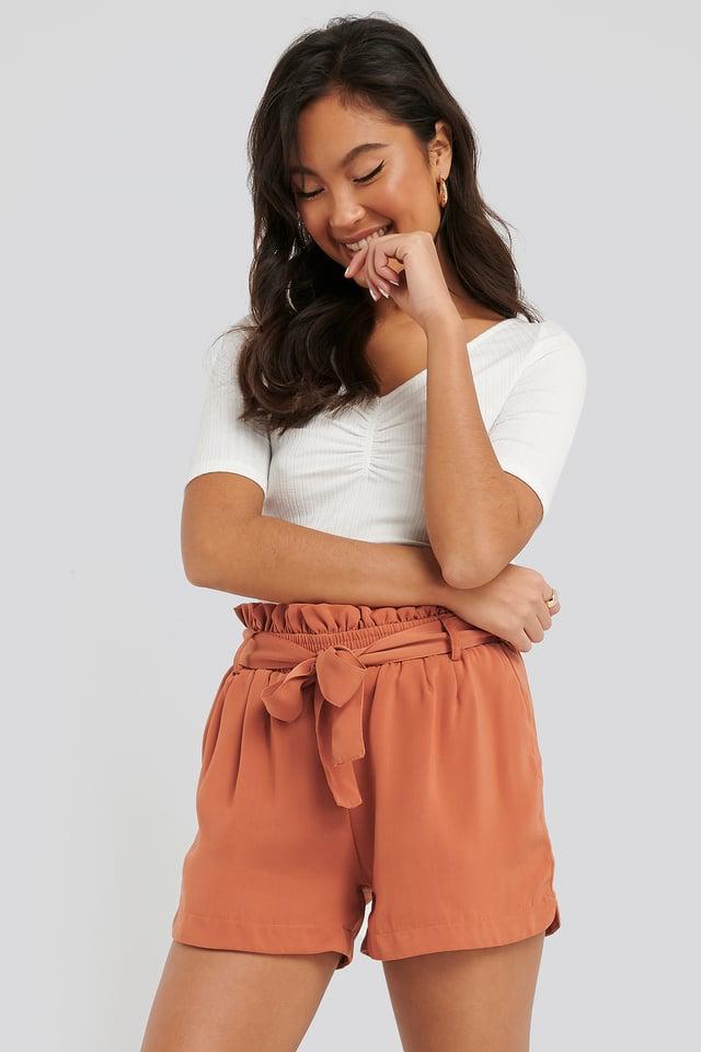 Dora Shorts Red Sand