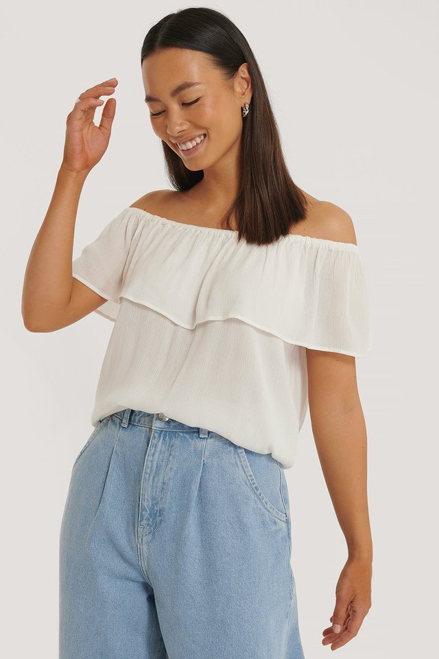 Offwhite Off Shoulder-Topp