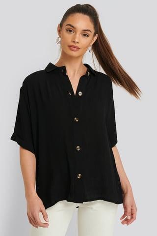 Black Harriet Shirt Short-Sleeve