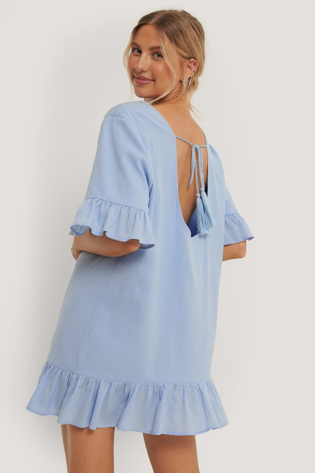 Blue Aino Rossi Open Back Detail Tunic