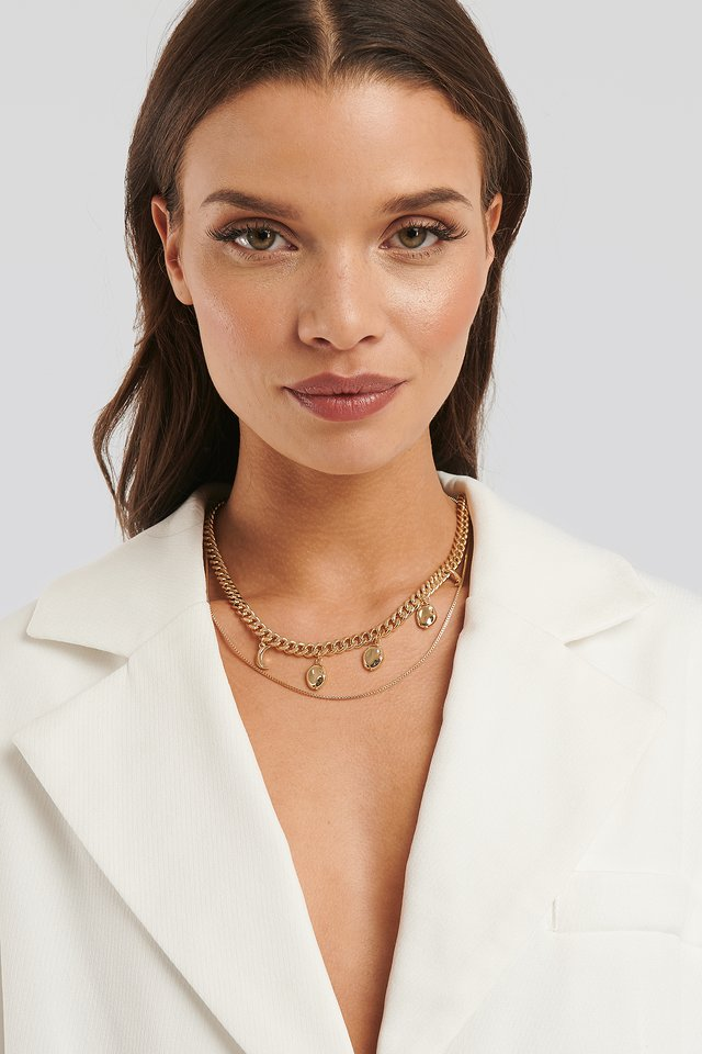 Lisa Anckarman Two In One Charm Necklace Gold