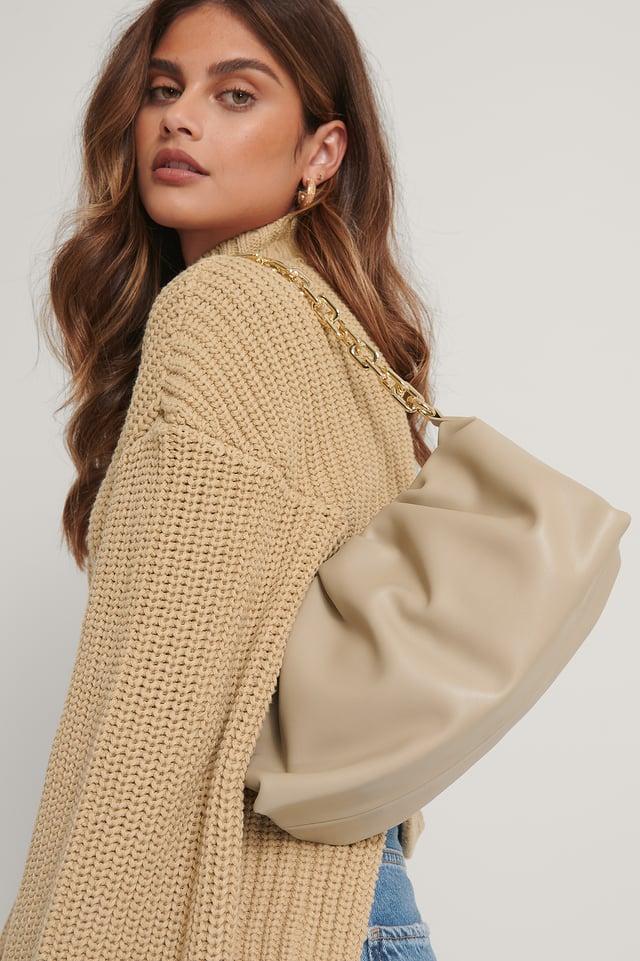 Big Chain Bag Beige