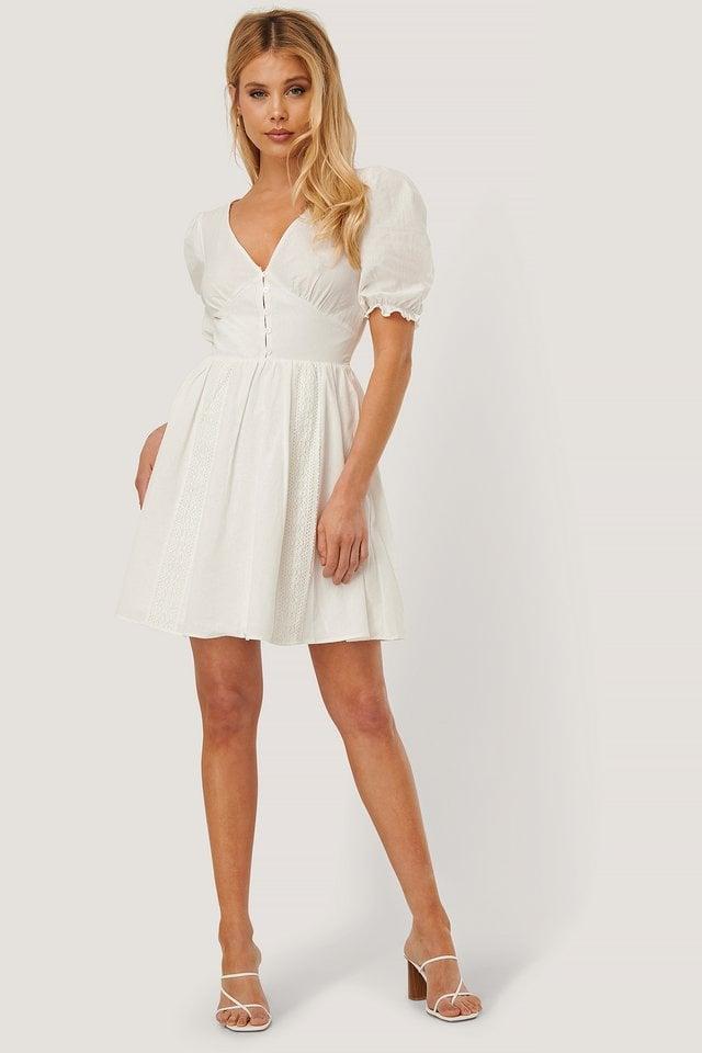 Waist Detail Anglaise Mini Dress
