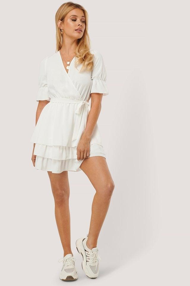Overlap Layered Mini Dress