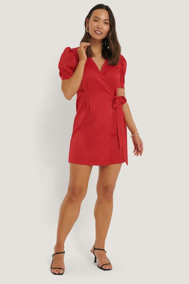 Short Puff Sleeve Mini Dress