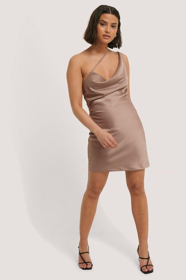 Side Straps Waterfall Dress