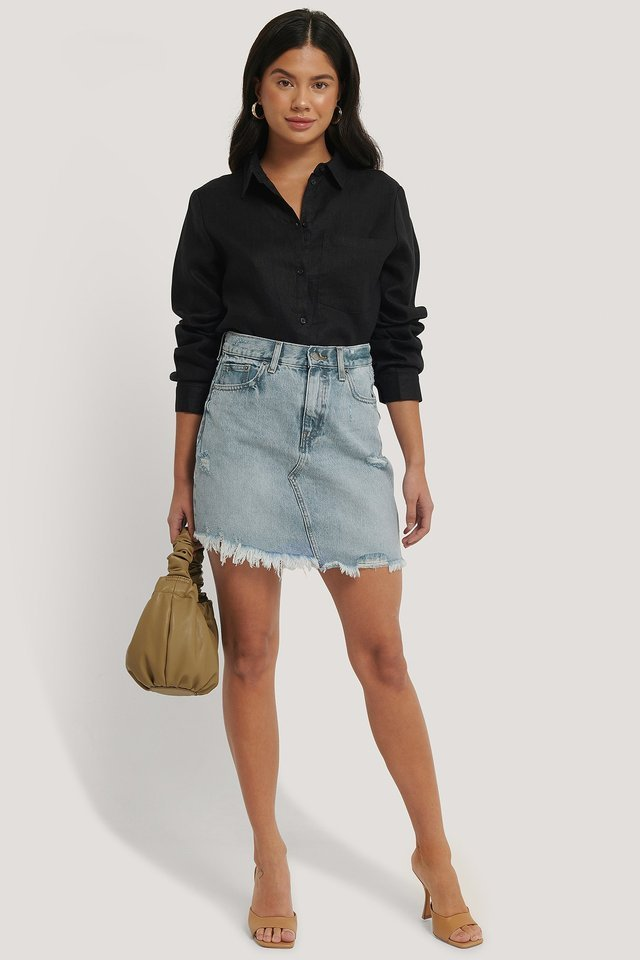 Sara Denim Skirt