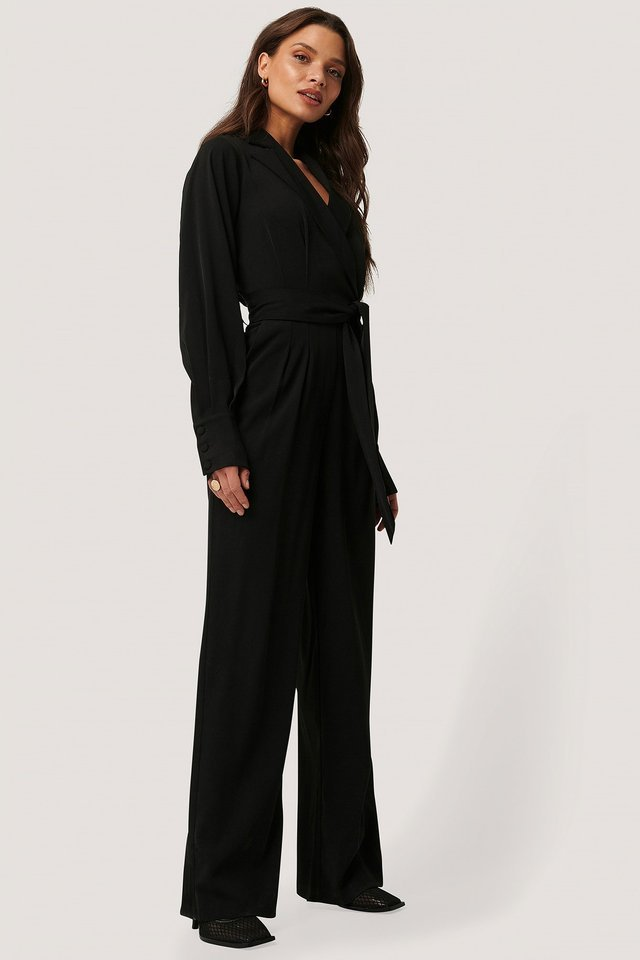 Balloon Sleeve Tailored Jumpsuit