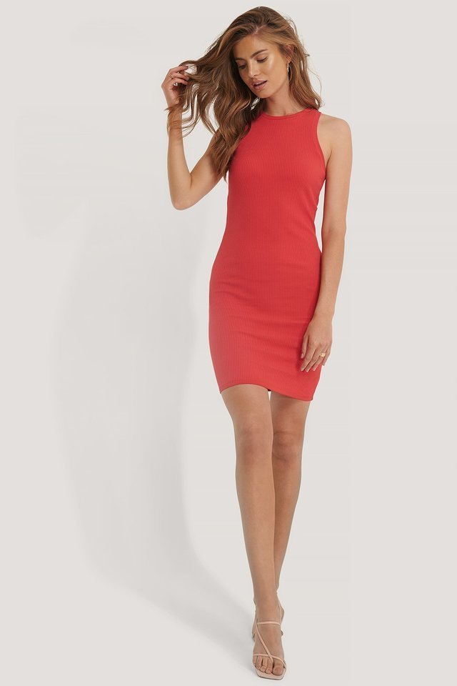 Ribbed Racerback Dress