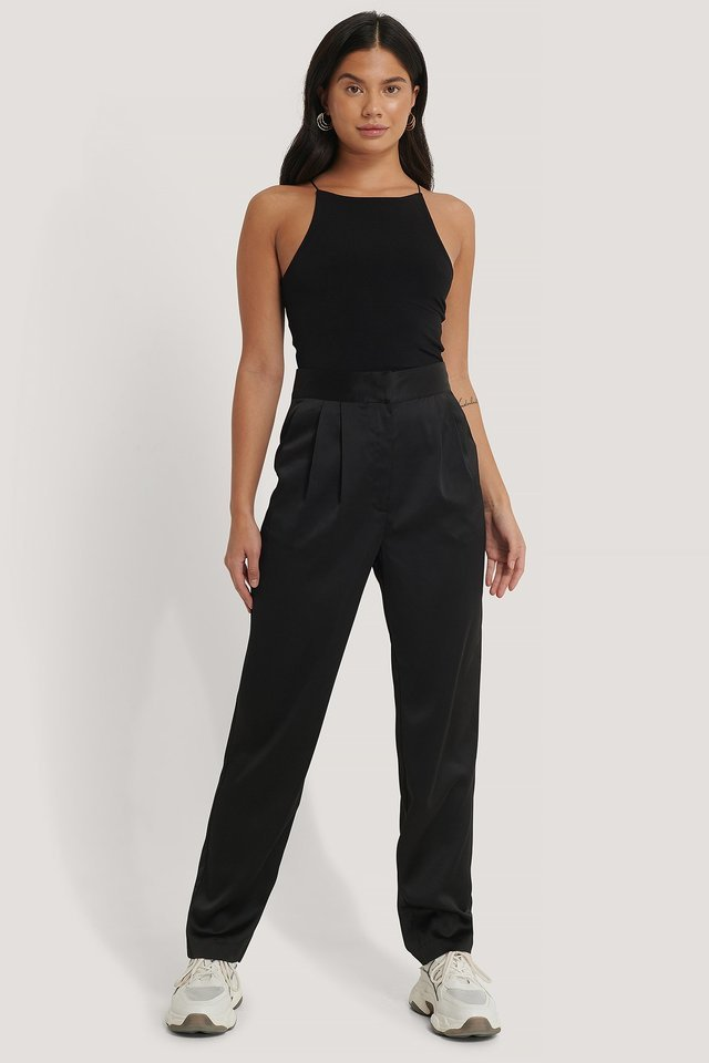 Loose Slit Pants
