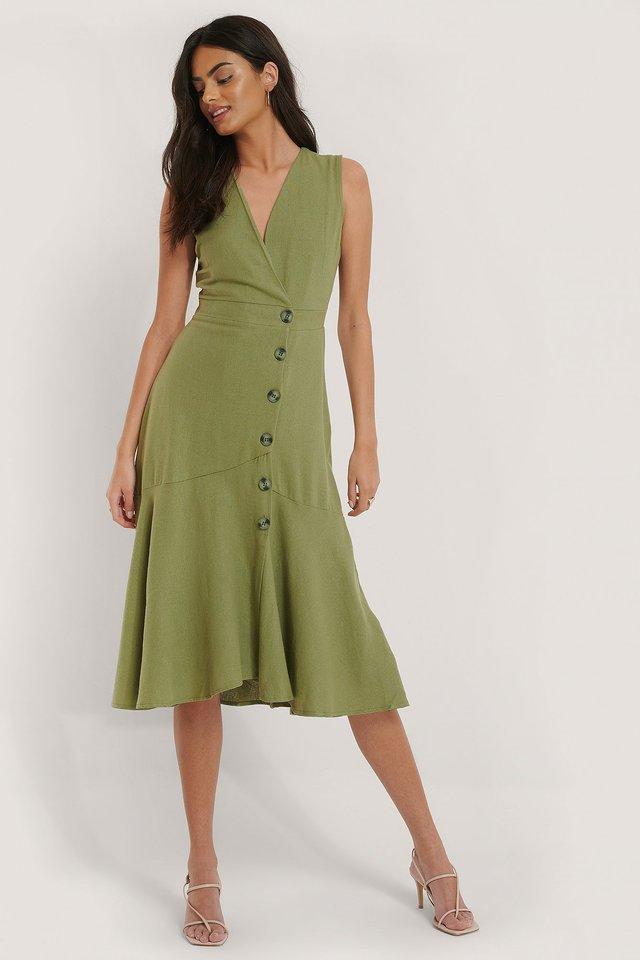 Button Flared Dress
