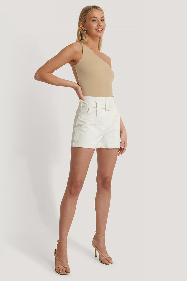 High Waist Pocket Detail Shorts
