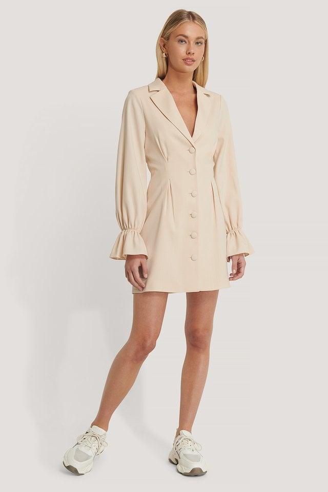 Sleeve Details Blazer Dress