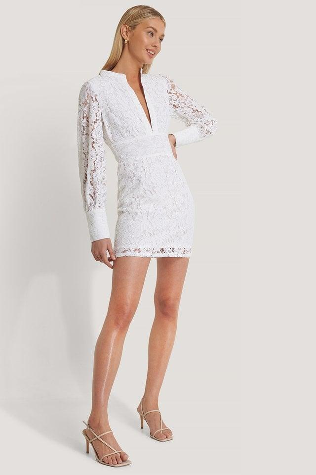 Deep Front Lace Dress