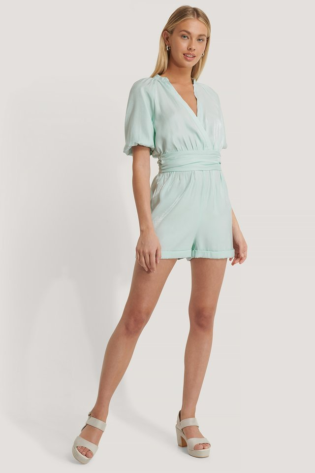 Volume Sleeve Playsuit